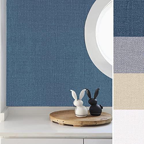 LC&TEAM 60 x 500 cm tapet självhäftande självhäftande folie tjock 0,42 mm klistermärke matt tapet vardagsrum fibertapet blå dekorativ film för vägg/skåp/barnrum/kök/dörr