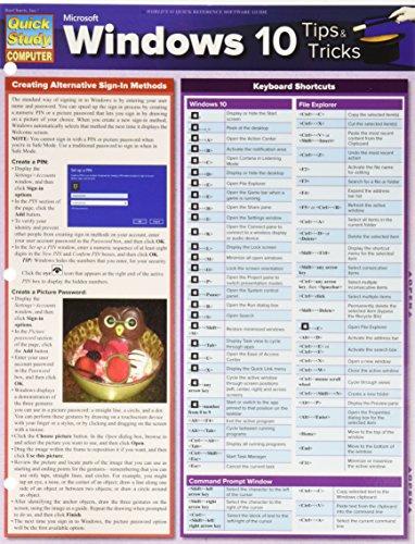 Microsoft Windows 10 Tips & Tricks (Quick Study Computer)