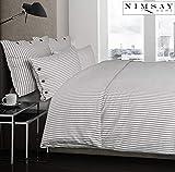 Nimsay Home Dejong - Juego de funda nórdica con botones (100% algodón, 255 x 200 cm, 2 fundas de almohada de 50 x 80 cm), color gris