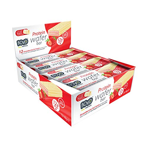 Novo Protein Wafer Bar 12 x 40g (Strawberry & Cream)
