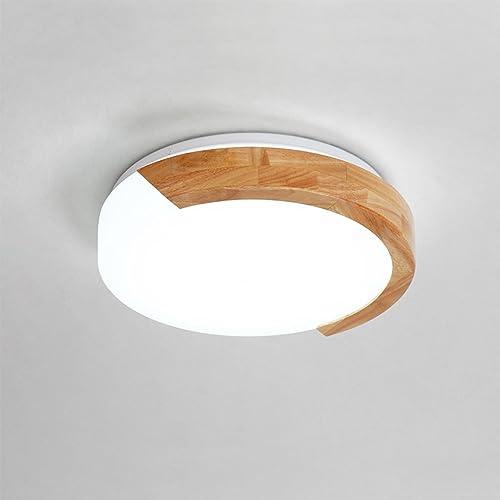 Lampe Suspension Plafond Plafonnier LED Nordic Creative Chandelier Restaurant Café En Bois Massif Salon Chambre Décoration Plafonnier (Taille   30cm-12W)