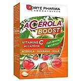 Forté Pharma Acérola Boost | Complément Alimentaire à Base de Vitamine C d'Origine Naturelle et de Caféine | 30 Comprimés à Croquer