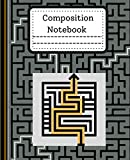 Composition Notebook: Marvelous black & white maze Design composition notebook for first grade Wide Ruled Toddlers Kids Composition Notebook 120 Pages ... gift for Boys or Girls 7.5 x 9.25 120 Pages
