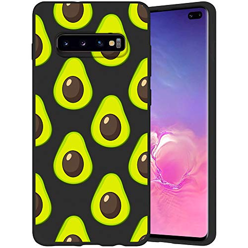 JOYLAND Fruit Phone Case Cover for Galaxy S10 Avocado Case Cover Slim Fit Flexible Matte Shock Absorption Phone Case Shell Compatible for Samsung Galaxy S10