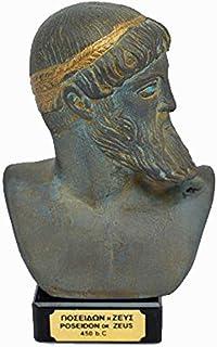 Zeus o Poseidon antiguo dios griego escultura estatua busto (Museo Re/ction) verde
