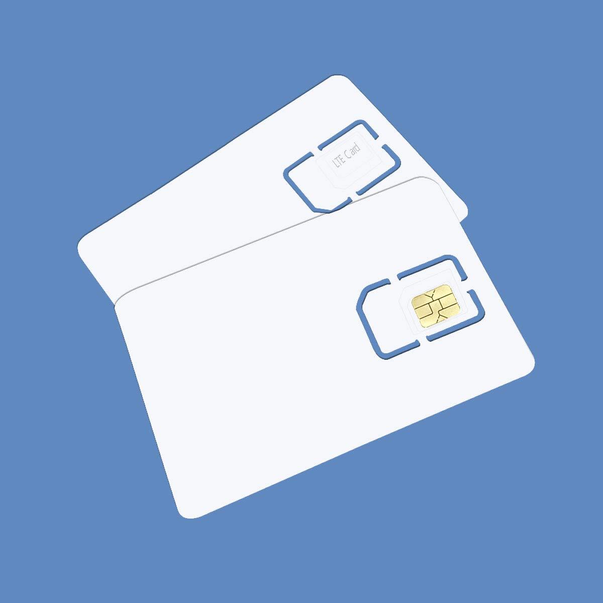 Anordsem Tarjeta SIM en blanco programable 4G, LTE, WCDMA GSM Nano Micro SIM 2FF 3FF 4FF para operador de telefonía: Amazon.es: Electrónica