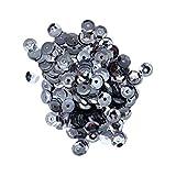 SUPVOX 2 confezioni di paillettes glitter colorati lucidi lustrini fai da te arti e mestieri decorazione paillette (argento)