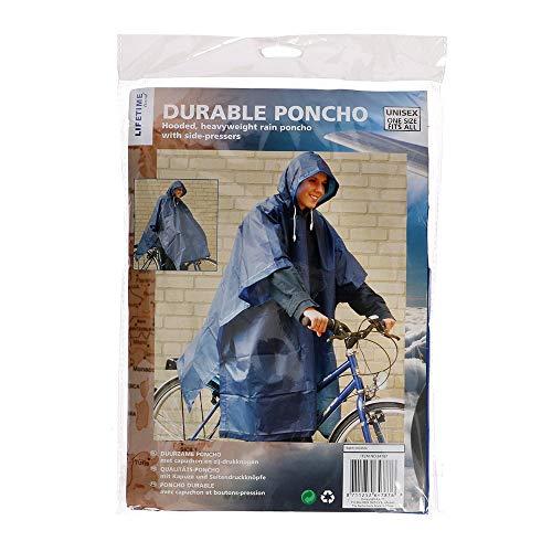 Poncho à Vie avec Capuchon Bleu foncé