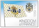 Kingdom of France 1589-1791 - Imán para nevera, diseño de bandera histórica