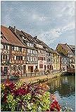ZFSXmas Puzzles 1000 pièces pour adultes Strasbourg France - Street View de Traditio l Houses Jeux éducatifs, Brain Challenge Puzzle Toy for Kids Childrens