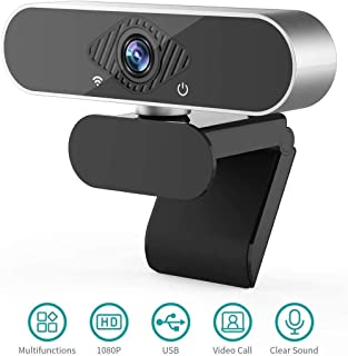 1080P Webcam USB Web Camera PC Camera with Microphone Web Cam for Gaming Conferencing Video Calling Business Meeting, Plug and Play Computer Camera with 120-Degree View Angl for PC, Desktop or Laptop