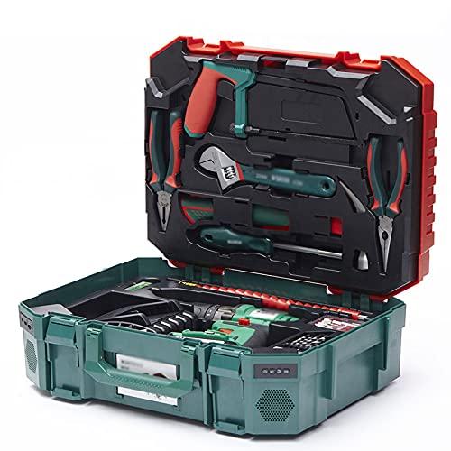 juego de alicates Juego de herramientas de 88 piezas Juego de herramientas de energía de batería de litio Conjunto de herramientas de herramientas profesional multifuncional kit de herramientas
