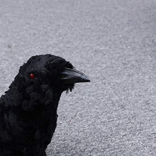 NUOBESTY Halloween Raven Horror Felpa Animal de Peluche Prop ...