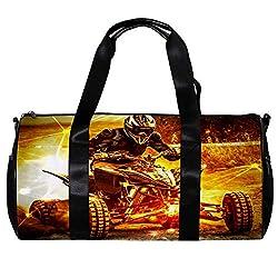 Desheze Sporttasche für Kinder Quad-Bike Reisetasche Klein Schwimmtasche Wasserdicht Schultertaschen Badetasche Handtasche Umhängetasche Tasche für Sport Fitness Gym 45x23x23cm