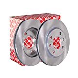 Febi bilstein 10316 Jeu de disques de frein (2 disques de frein) avant, ventilés à l'intérieur, Nombre de trous 4