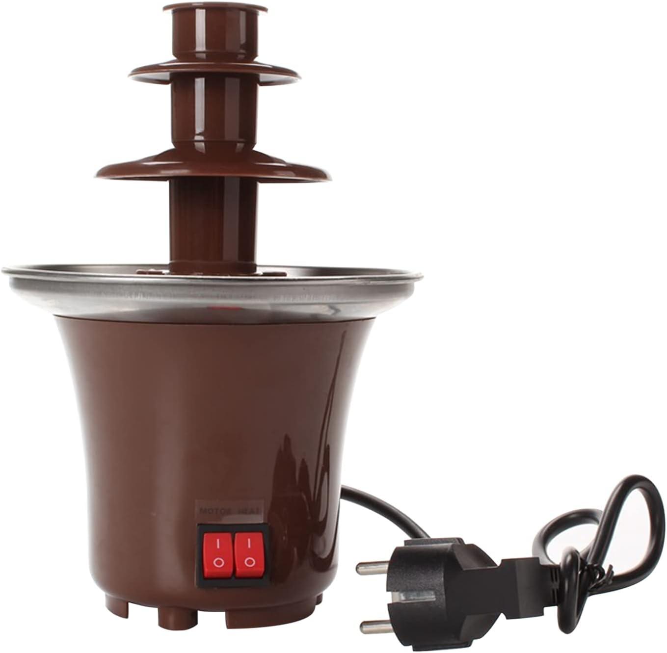 Washington Mall Chocolate Fondue Fountain Product 3 Tier Cho Steel Pot Stainless