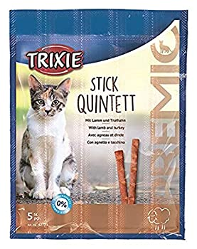 Trixie 4011905427232 Premio Stick Quintett Friandise pour Chat Agneau/Dinde 5 × 5 g