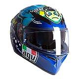 AGV K3 SV-S Rossi Misano 2015 Casco Integral De Moto Talla L