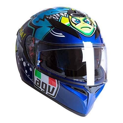 AGV K3 SV-S Rossi Misano 2015 Vollgesichts-Motorradhelm Grose ML