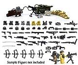 Pack d'armes en argent et Pack d'armes en or de guerre moderne pour personnaliser Grande marque de jouet de construction de bâtiment mini figure/MOC.50 piece