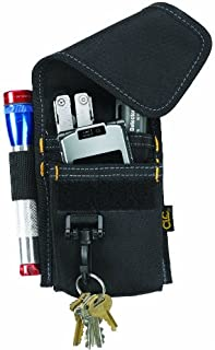 Custom Leathercraft CLC 1104 Construction Multi-Purpose Poly Tool Holder, Cell Phone Holder