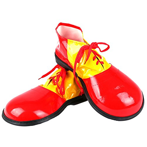 Honeystore Unisex Jumbo Large Clown Shoes Halloween Costumes Accessories Red - http://coolthings.us