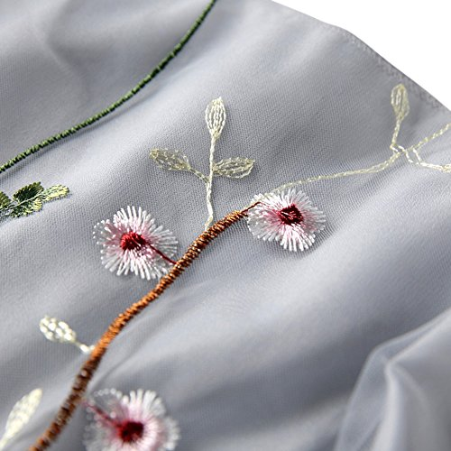 Sunsent Sexy Women Deep V Neck Flower Printed Back Zipper Maxi Dresses (L, Floral)