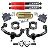 WULF 3' Front 2' Rear Leveling Lift Kit with Rear Shocks and Control Arms compatible with 2004-2020 Ford F150 4X4