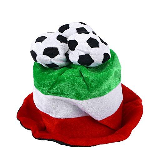BESTOYARD Fußball Hüt Flagge Italien Fußball Fanartikel 2018 Fußball WM Support Artiel Fußball Party Kostüme Hut