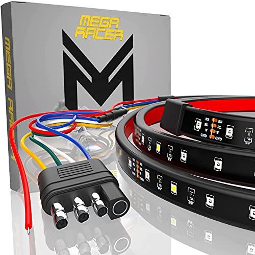 Mega Racer Single Row 48 Inch LED Tailgate Light Bar for Trucks - 5 Functions...