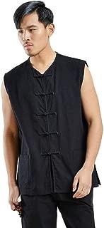 ZooBoo Kung Fu Uniform Vest - Chinese Traditional Qi Gong Martial Arts Wing Chun Shaolin Tai Chi Training Cloths Apparel