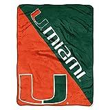 The Northwest Company Miami Hurricanes 'Halftone' Micro Raschel Throw Blanket, 46' x 60' , Green
