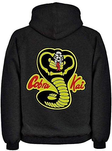 DrMugCollection Sudadera Cobra Kai Strike First Black