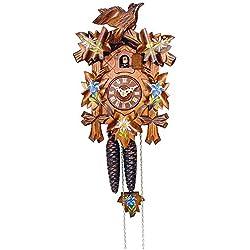 Alexander Taron Importer 522-9 Engstler Weight-Driven Cuckoo Clock - Full Size - 9.25 H x 6.75 W x 6 D, Brown
