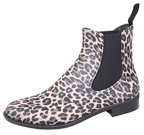 Bockstiegel Damen PVC-Stiefelette Rebecca, Farbe:leopard;Größe:37