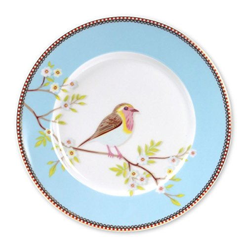 Pip Studio Home Early birds Teller blau 21cm Porzellan
