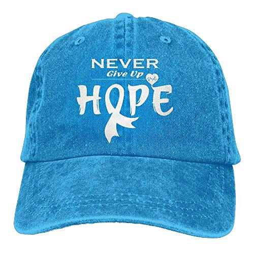 Cheeper Eletina Ds 2018 Gorra de béisbol de algodón para Adulto, para concienciación sobre el cáncer de pulmón, 1 Gorra clásica Ajustable para papá