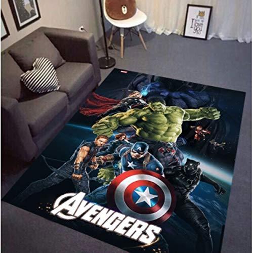 LIQIAO Alfombra Alfombra Marvel Avengers Spider-Man Iron Man Anime Dibujos Animados Sala De Estar Dormitorio Guardarropa Habitación Infantil Alfombra De Juego Wild Floor Alfombra Decorativa
