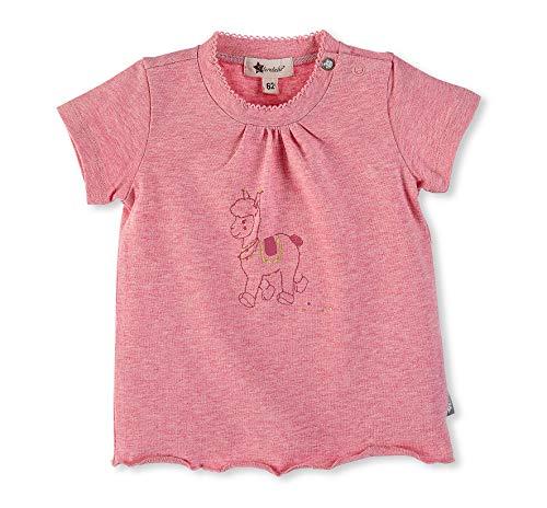 Sterntaler Sterntaler T-Shirt für Mädchen, Niedliches Lama Lotte-Motiv, Alter: 4-5 Monate, Größe: 62, Rosa