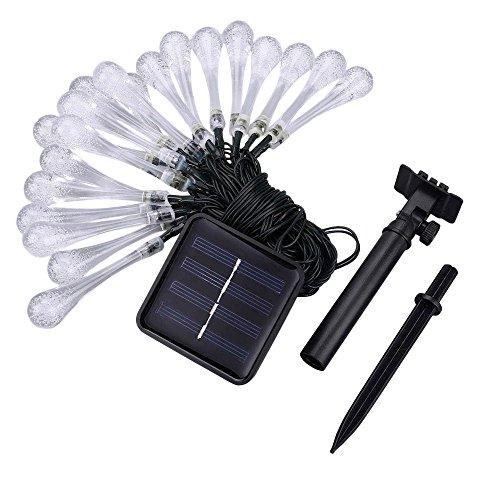 Hink Lichterkette, 20 LEDs, Tropfenform, solarbetrieben, Weihnachtsdekoration L Mehrfarbig