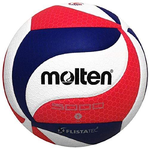 Molten Volleyball FLISTATEC, Herren Damen Mädchen Jungen Unisex, Molten FLISTATEC Volleyball, V5M5000-3USA, USAV Offizielles Produkt, Rot, Weiß, Blau, Official