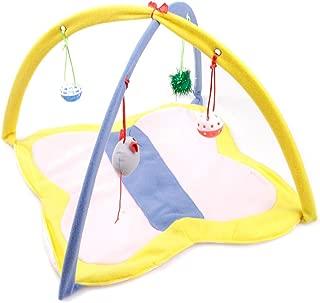 Doober Cat Supplies Cat Play Mat, Cat Tent Activity Center with Hang Cat Toys Balls Mice