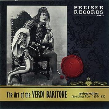 The Art of the Verdi-Baritone