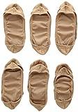 Jefferies Socks Big Girls Seamless Nylon Footie (6 Stück) - Beige - Medium