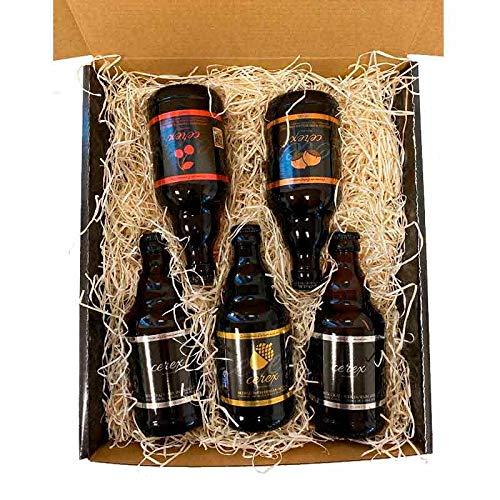 Deliex delicias de Extremadura Lote degustación 5 Cervezas artesanas Cerex