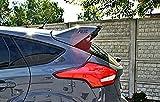 Coche Alerón Trasero Rear Spoiler para Ford Focus MK3 RS,ABS Car Rear Trunk Techo Spoiler Lip Wing,Coche Spoiler Maletero ala Cola,Negro