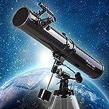 MAZ Telescopio de Refractor con Trípode; Alcance Del Buscador, Telescopio Portátil para Niños