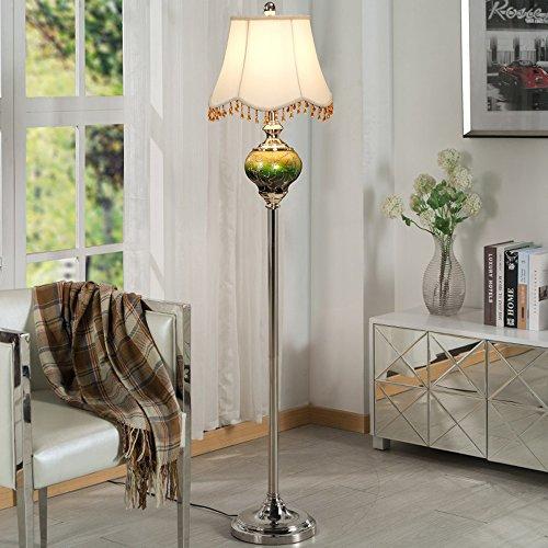 Good thing Lampadaire Lampadaire tissu verre en fer forgé 36 * 160 cm chambre européenne salon étude nuptiale créative feux verticaux