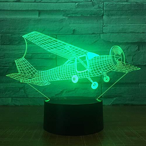 Planeador Aviones Avión e Noche Luz 3D LED USB Lámpara de mesa regalo de cumpleaños para niños decoración de la habitación junto a la cama