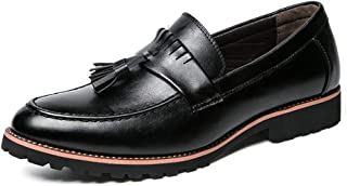 2019 Mens New Lace-up Flats Men's Fashion Oxford Shoes, Casual Comfortable Outsole Classic Tassel Slip On Shoes